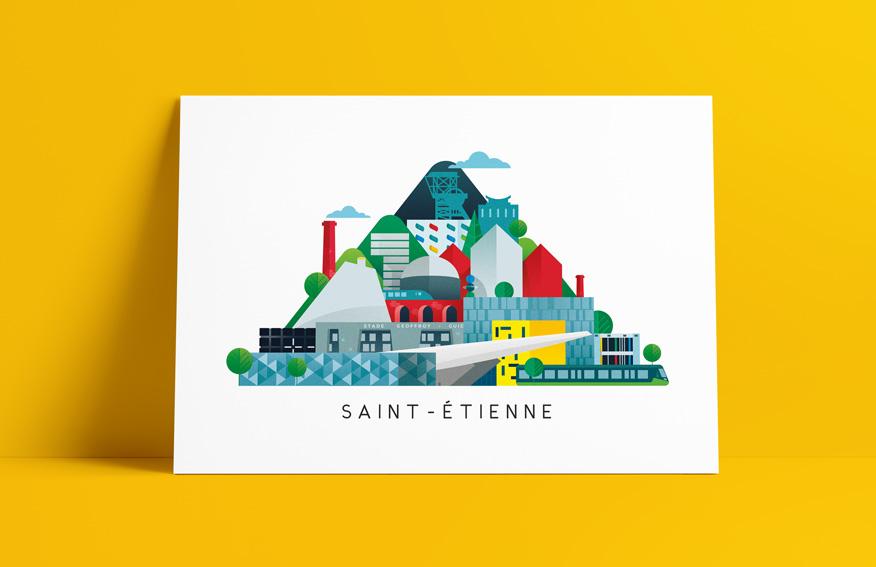 poster de Saint-Etienne et de son agglomération