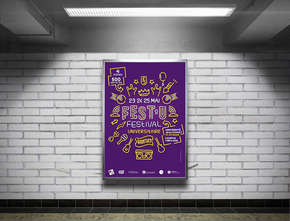design graphique Saint-Etienne festival universitaire UJM