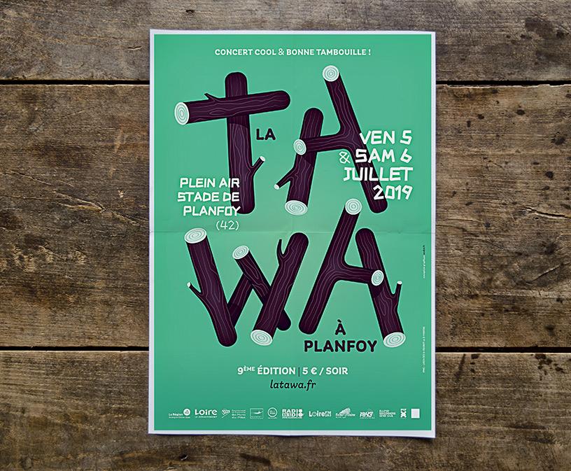 affiche du festival La Tawa à Planfoy