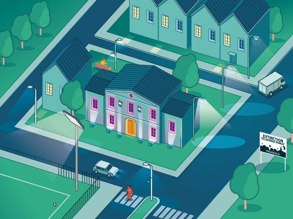 dessin isométrique urbain