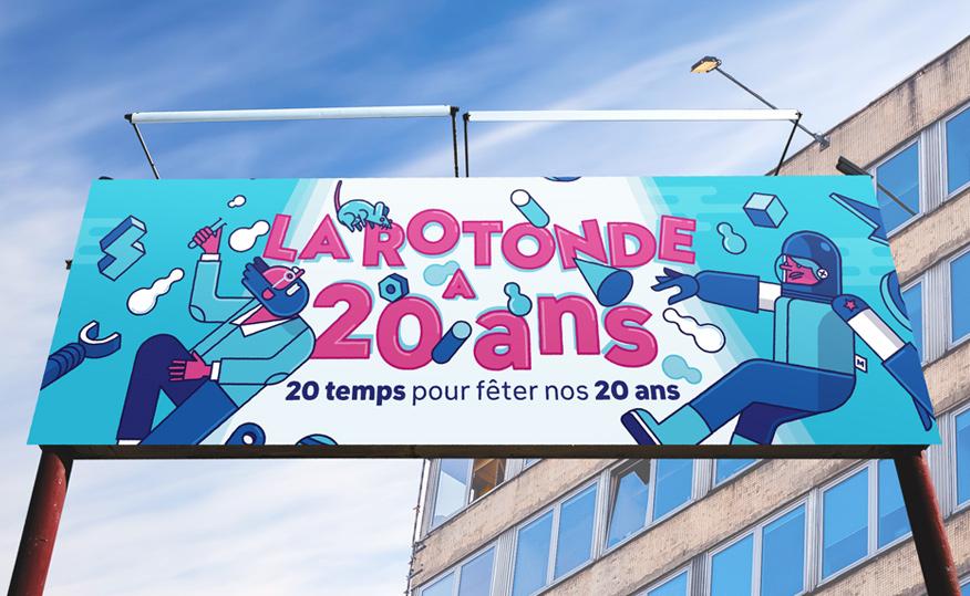 illustration frise La Rotonde Saint-Etienne 20 ans