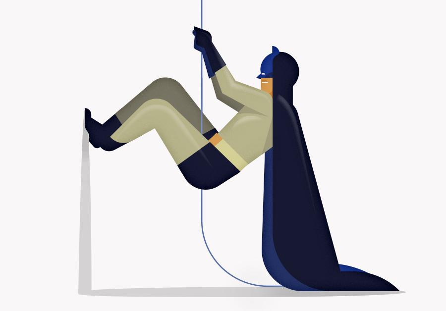 Illustration de Batman et Robin légèrement empotés